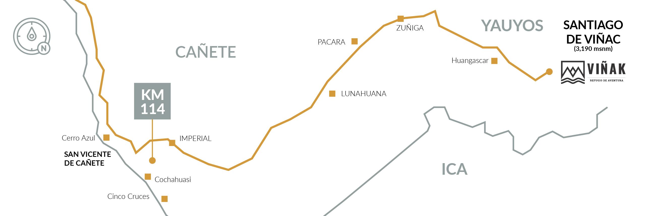 Mapa Refugio Viñak